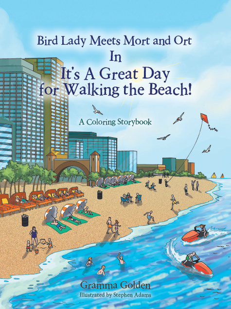 Bird Lady Meets Mort and Ort in It's a Great Day for Walking the Beach!